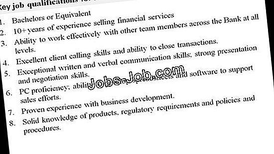 Senior Supervisor Job Description